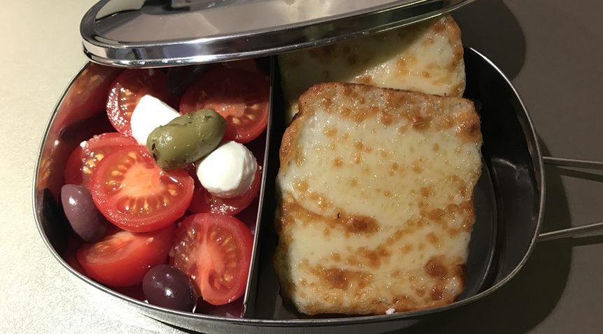 Запечен сандвич с кашкавал